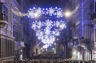 Luminarie via del Corso: Roma si accende con le luci di Natale firmate Acea