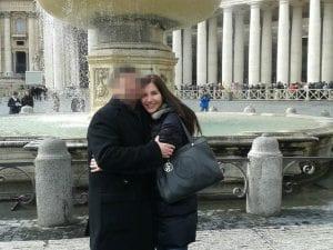 La donna morta suicida, Pina Orlando, col marito (da Facebook)