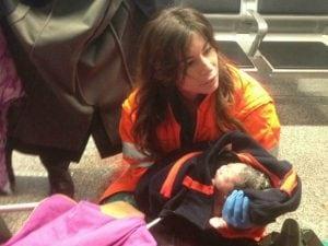 Il bimbo partorito in aeroporto a Fiumicino
