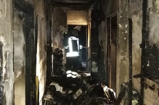 Roma, incendio distrugge un appartamento: i vigili del fuoco salvano un 75enne e un gatto