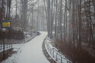 Arriva la neve, fiocchi cadono sui monti del Lazio