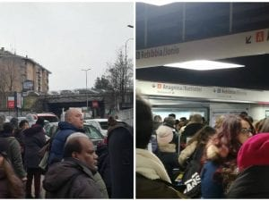 Il caos questa mattina sulla metro A di Roma