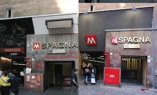 Dopo i lavori ecco il nuovo ingresso della stazione della Metro A Spagna