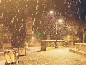 Foto Facebook – nevicata a Rocca di Papa