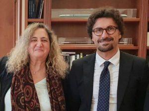 Graziella Viviano e il ministro Toninelli