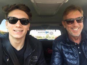 Manuel Bortuzzo insieme a suo papà Franco