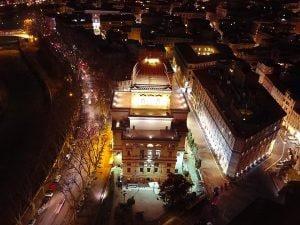 Foto Facebook Comunità ebraica di Roma Credits: Aron Vinci pilota MV Flying Cameras SRL