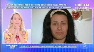 """Bimba picchiata a Genzano, la madre: """"L'ha colpita fino a che non ha smesso di respirare"""""""