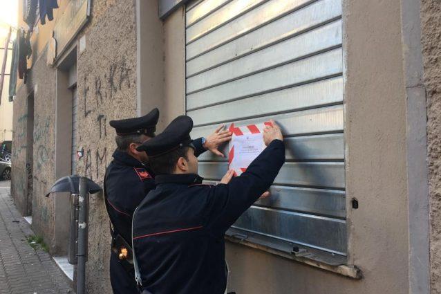 Il sequestro del forno da parte dei carabinieri