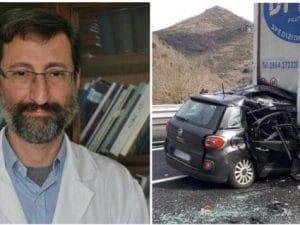 Il professor Andrea De Luca, infettivologo, morto in uno scontro tra auto e furgone sull'A24