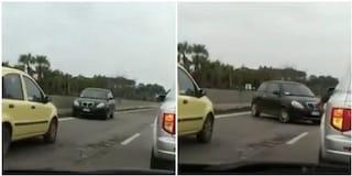 Auto contromano sulla Pontina: il video che ha fatto il giro dei social
