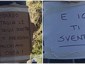 Insulti a Villa Torlonia