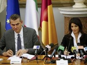 Virginia Raggi e Lorenzo Bagnacani
