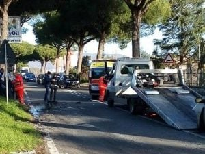 Scontro tra auto e furgone su via Appia Sud: ferite 8 persone (Foto Facebook)