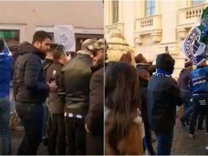 I tifosi del Porto sfilano per le vie del centro storico di Roma