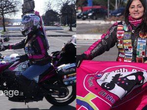 Yaneth Alvarez, la biker colombiana insieme alla sua moto