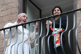 """Papa Francesco in Campidoglio, Raggi """"Il rapporto tra il Santo Padre e Roma è unico e speciale"""""""