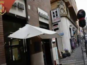 Uno dei bar sequestrati nel centro di Roma