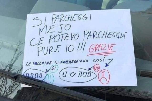 Il tutorial per un buon parcheggio apparso su diversi gruppi Facebook dei quartieri della Capitale