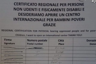 Via Nazionale a Roma, finta sordomuta chiede donazioni con falso certificato medico: denunciata