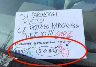"""A Roma spunta il tutorial per il parcheggio sbagliato: """"Ce potevo parcheggià pure io"""""""