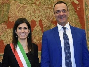 Marcello De Vito e Virginia Raggi
