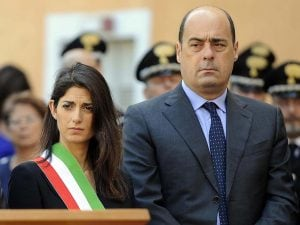 Virginia Raggi e Nicola Zingaretti