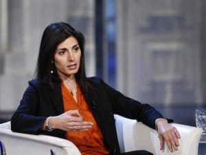 Virginia Raggi ospite della puntata di Porta a Porta del 20 marzo 2019.