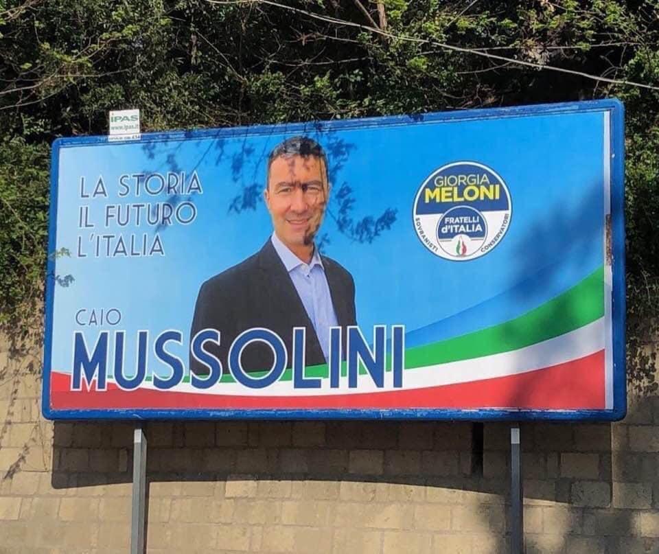 Il manifesto elettorale di Caio Mussolini