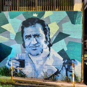 Il murales dedicato a Sordi
