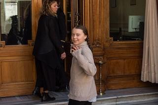 """Roma, Greta Thunberg in Senato: """"Ci avete rubato il futuro"""""""