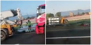 Incidente Autostrada A1 tra Pontecorvo e Cassino: molti agnelli morti, conducenti feriti