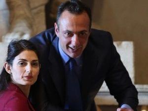 Marcello De Vito e Virginia Raggi