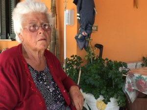 La bisnonna del piccolo Gabriele, che ieri è morto, a due anni e mezzo, a Piedimonte (Frosinone)