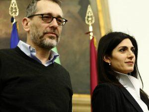 Virginia Raggi e Corrado Formigli