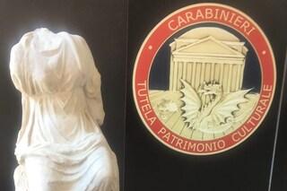 Ecco la statua della Musa Calliope, rubata nella villa di Roberto Benigni a Roma