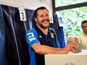 Matteo Salvini alle urne