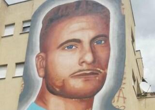 Roma, il murales di Jorit dedicato al bomber della Lazio Ciro Immobile