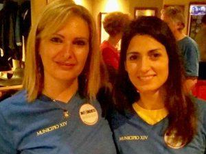 Rita Angelini insieme alla sindaca Virginia Raggi