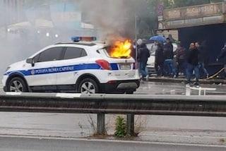 Lazio-Atalanta, scontri fra ultras e polizia allo Stadio Olimpico: due vigili feriti