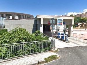 Il parcheggio multipiano di Frosinone dove sono morti due ragazzi