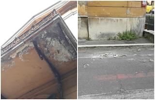 Roma, cadono calcinacci da un balcone dell'Umberto I: crollano pezzi di muro dal policlinico