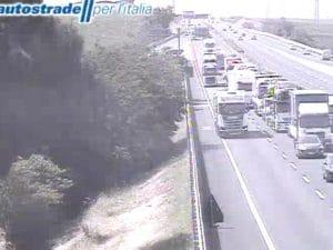 Traffico alle 10,20 sull'Autostrada A1
