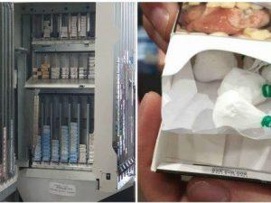 Le immagini della droga nascosta nelle sigarette