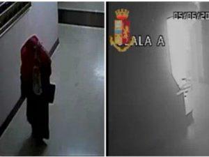 Le immagini riprese dalle videocamere di sorveglianza