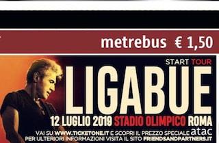 Con il biglietto o l'abbonamento Atac il biglietto per il concerto di Ligabue costa la metà