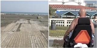Ostia, spiagge libere non adatte ai disabili: non ci sono accessi e servizi