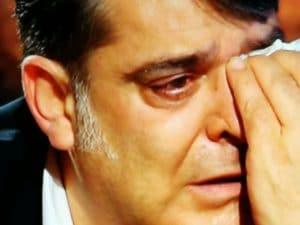 Ciontoli piange nel corso dell'intervista rilasciata a Franca Leosini
