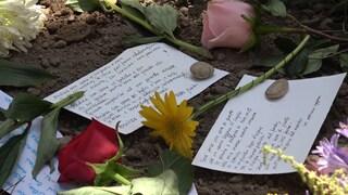 Andrea Camilleri seppellito al cimitero Acattolico di Roma: i biglietti dei lettori sulla tomba