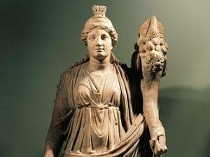 Una delle tante raffigurazioni della dea Fortuna.